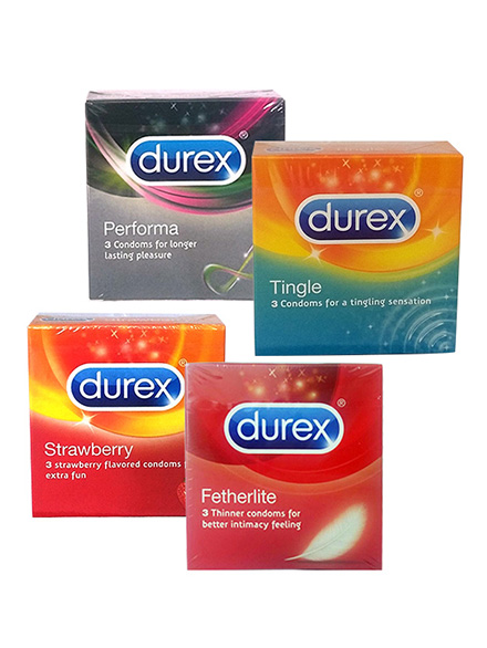 Durex Kondom Small Party - Performa, Tingle, Strawberry, Fetherlite