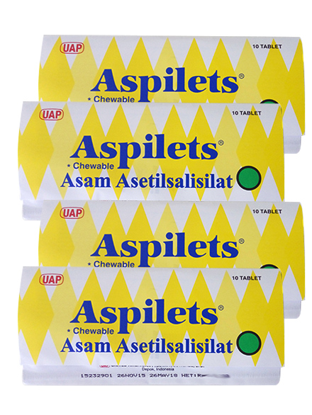 ASPILETS CHEWEBLE 80 MG TAB (4 Strip)