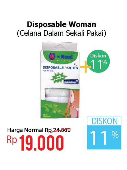 DISPOSABLE FOR WOMAN U NEED 6'S (DOUBLE DISCOUNT)