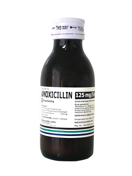 AMOXICILLIN DS 125 MG/5 ML 60 ML HJ (1 Botol)