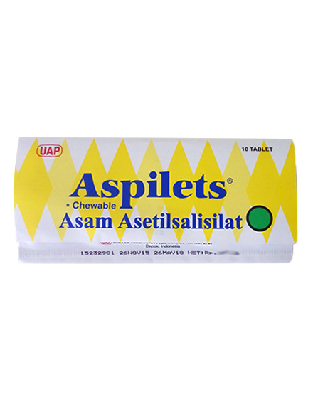 ASPILETS CHEWEBLE 80 MG TAB/ Strip
