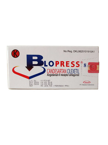 BLOPRESS 8 MG / Strip