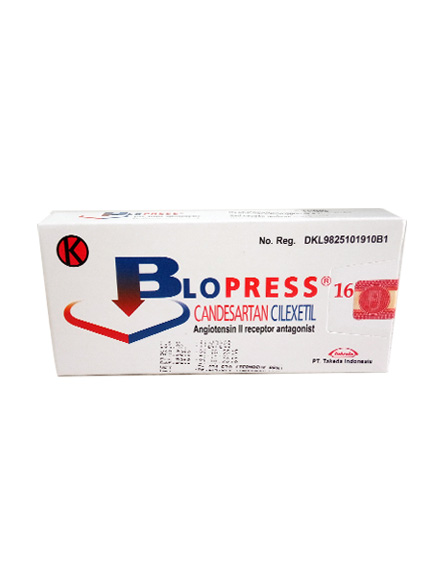 BLOPRESS 16 MG / Strip