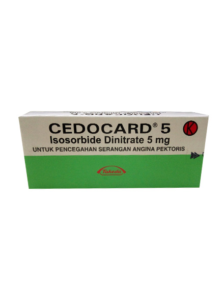CEDOCARD 5 MG 60 TAB (1 Strip)