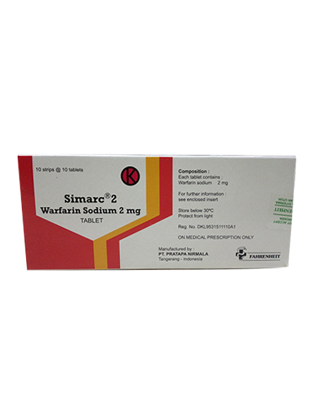 SIMARC 2 MG 100 TAB (1 Strip)