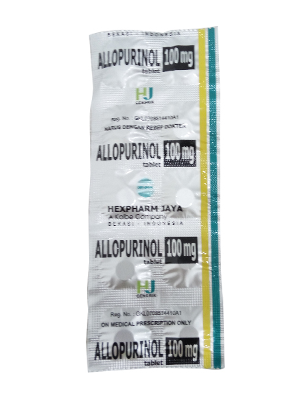 ALLOPURINOL 100 MG (1 Strip)