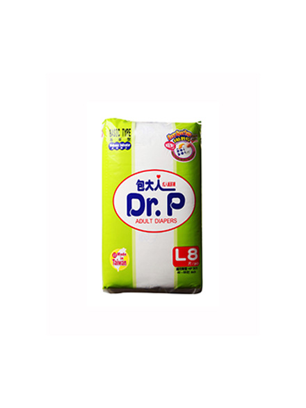 DR.P ADULT DIAPERS BASIC L 8 PC