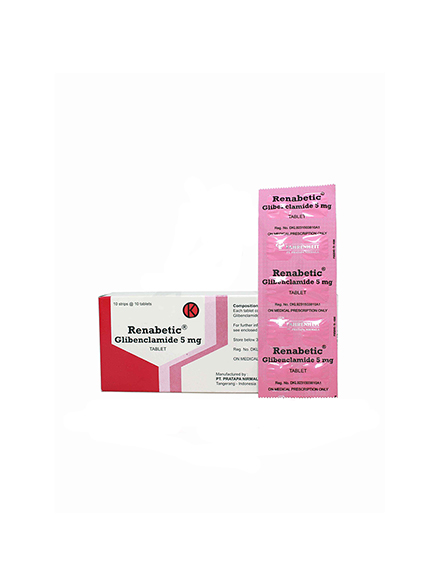 RENABETIC 5 MG TAB (2 strip)