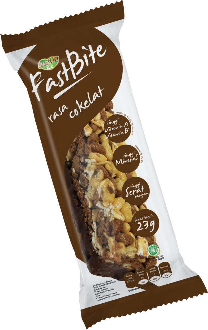 Prosana Fastbite Cereal Bar Rasa Coklat (12 Pcs/Box)
